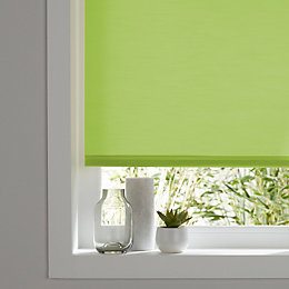 Colours Halo Corded Green Roller blind (L)180 cm