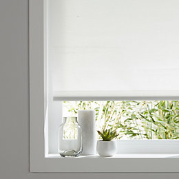 Colours Halo Corded White Roller blind (L)180 cm