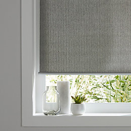Colours Iggy Corded Grey Roller blind (L)180 cm