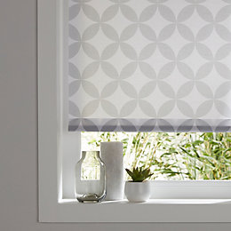 Colours Halo Corded Grey & white Roller blind