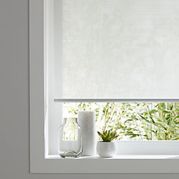 Colours Ist Corded White Roller Blind (L)195 cm