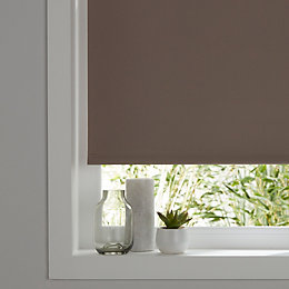 Colours Boreas Corded Light brown Blackout roller blind