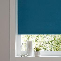 Colours Boreas Corded Blue Blackout roller blind (L)180