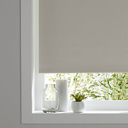 Colours Boreas Corded Ivory Blackout roller blind (L)180