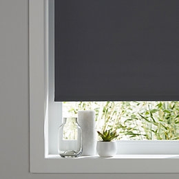 Colours Boreas Corded Grey Blackout roller blind (L)180