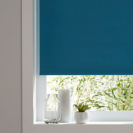 Colours Boreas Corded Blue Blackout roller blind (L)180