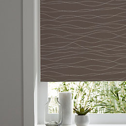 Colours Boreas Corded Brown & White Roller Blind