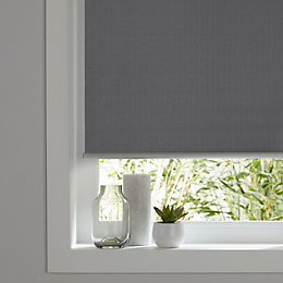 Colours Ilas Corded Grey Blackout roller blind (L)180