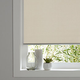 Colours Ilas Corded Cream Blackout roller blind (L)180
