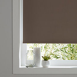 Colours Pama Corded Brown Roller Blind (L)195 cm