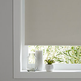 Colours Pama Corded White Roller Blind (L)195 cm