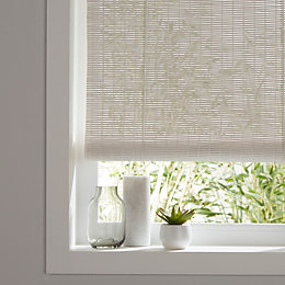 Colours Java Corded White Roll up blind (L)180