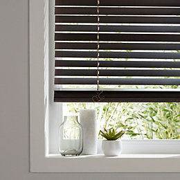 Colours Cana Dark Brown Venetian Blind (W)120 cm
