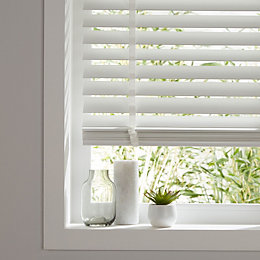 Colours Lone White Venetian blind (W)90 cm (L)180