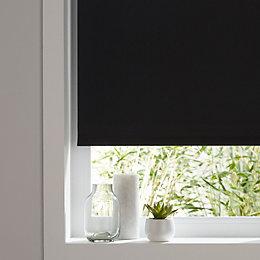 Colours Boreas Corded Black Blackout roller blind (L)180