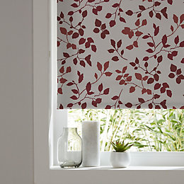 Colours Boreas Corded Ivory & Red Roller Blind