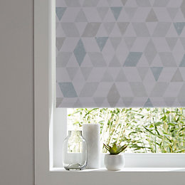 Colours Boreas Corded Blue & White Roller Blind