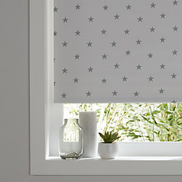 Colours Boreas Corded Grey & Ivory Roller Blind