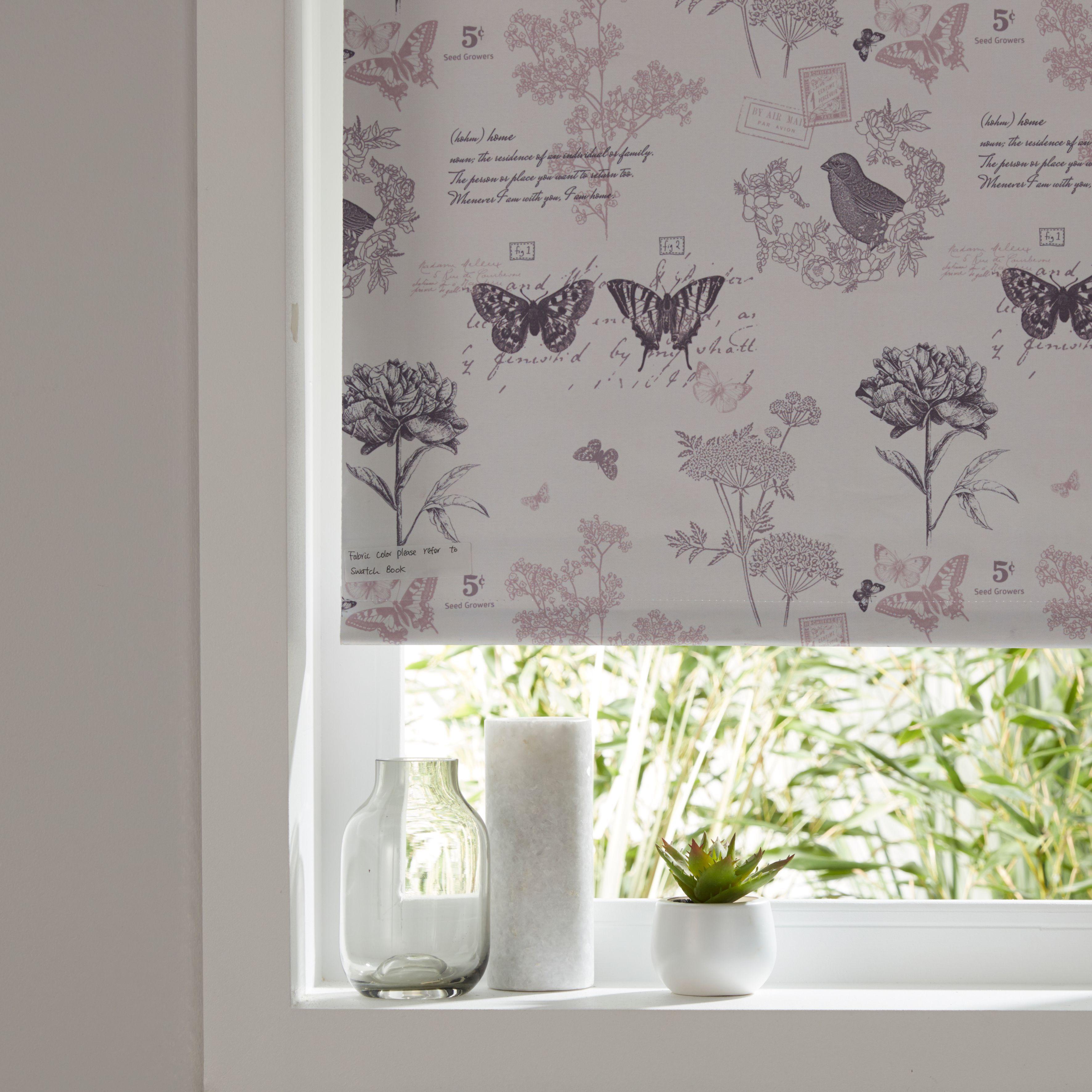 colours boreas corded ivory pink blackout roller blind. Black Bedroom Furniture Sets. Home Design Ideas