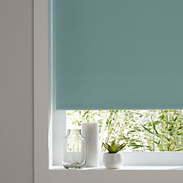 Colours Boreas Corded Green Blackout roller blind (L)180