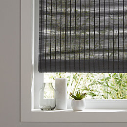 Colours Java Corded Grey Roll up blind (L)180