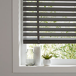 Colours Lone Grey Venetian blind (W)180 cm (L)180