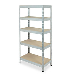 Form Exa Galvanised Shelving Unit (H)1800mm (W)900mm