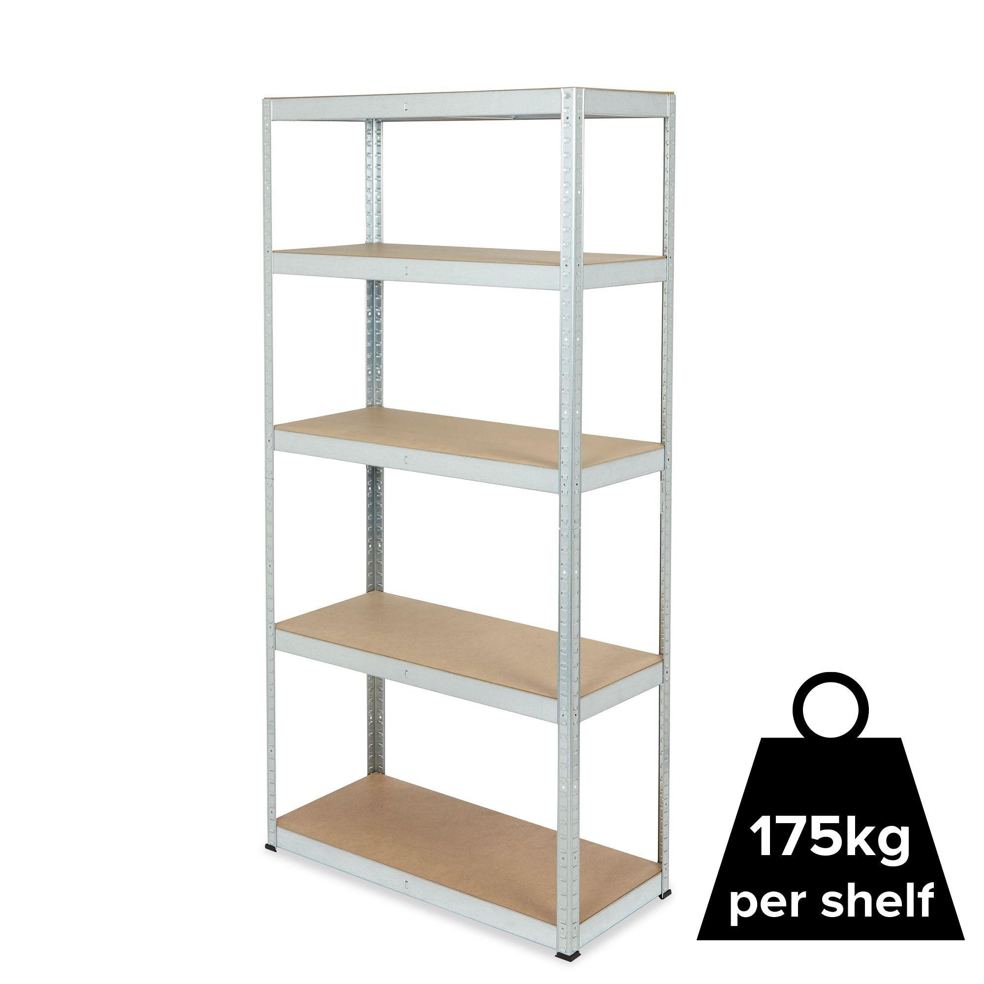 Diy Shelving Unit: 5 Shelf Steel 5 Tier Shelving Unit