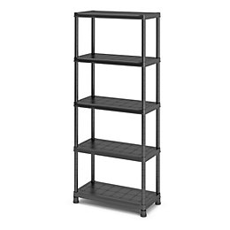 Black Shelving Unit (H)1820mm (W)800mm