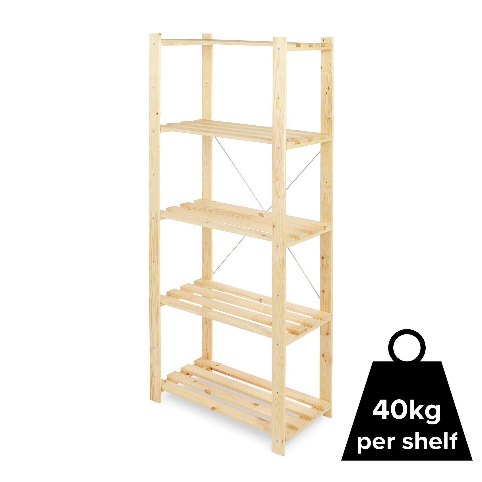 Diy Shelving Unit: Form Symbios 5 Shelf Wood Shelving Unit