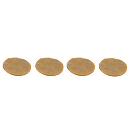 B&Q Brown Plastic Movement Reductor Pads (Dia)35mm, Pack