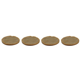 B&Q Brown Plastic Movement Reductor Pads (Dia)60mm, Pack