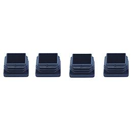 B&Q Black Plastic Insert Cap, Pack of 4