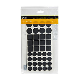 B&Q Black Felt Pad, Pack of 80