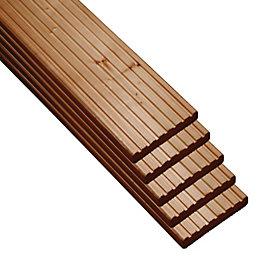 Nevou Premium Brown Deck Board (T)27mm (W)144mm (L)2400mm,