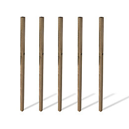 Grange Softwood pine Post (H)2.4m (W)70 mm, Pack
