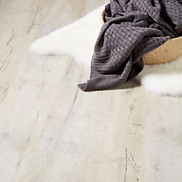 Brisbane Grey Oak effect Laminate flooring 1.996 m²
