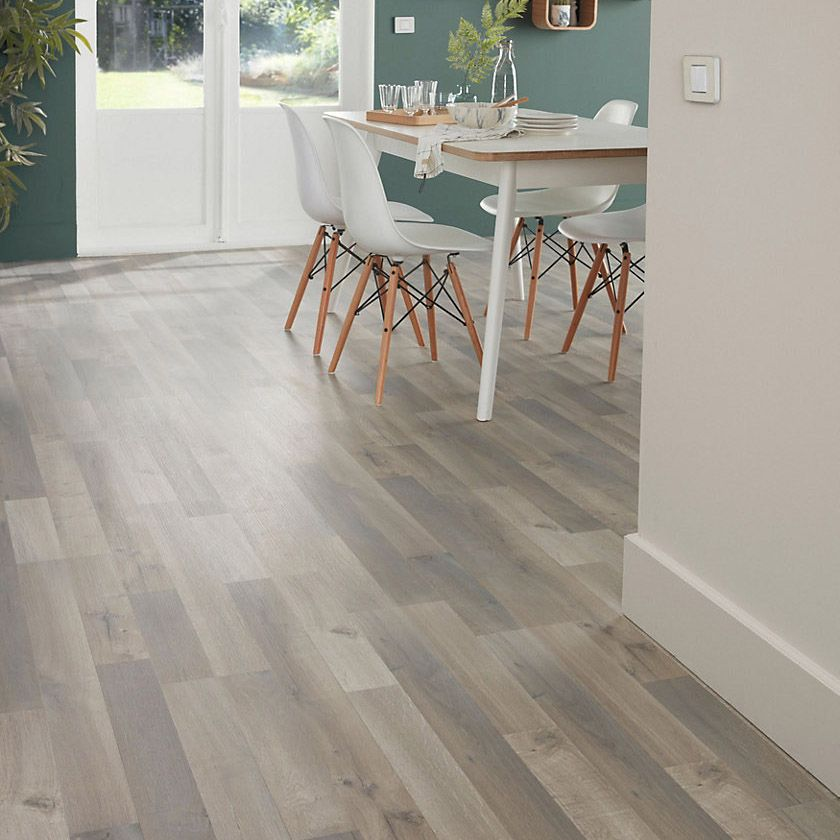 Astonishing Addington Grey Oak Effect Laminate Flooring 2M2 Departments Diy At Bq Home Interior And Landscaping Eliaenasavecom
