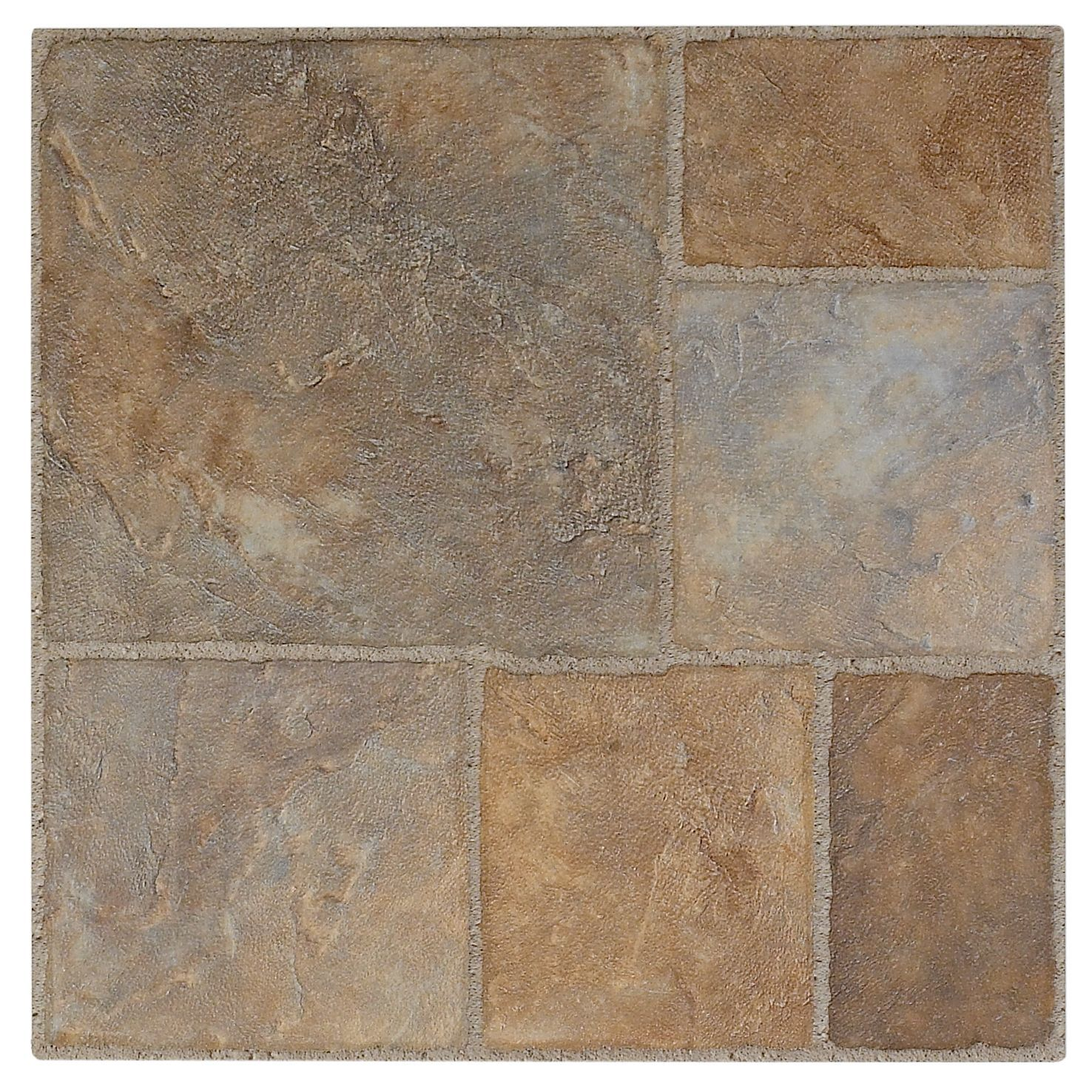 Colours sula beige stone effect self adhesive vinyl tile 0 for Stone effect vinyl flooring
