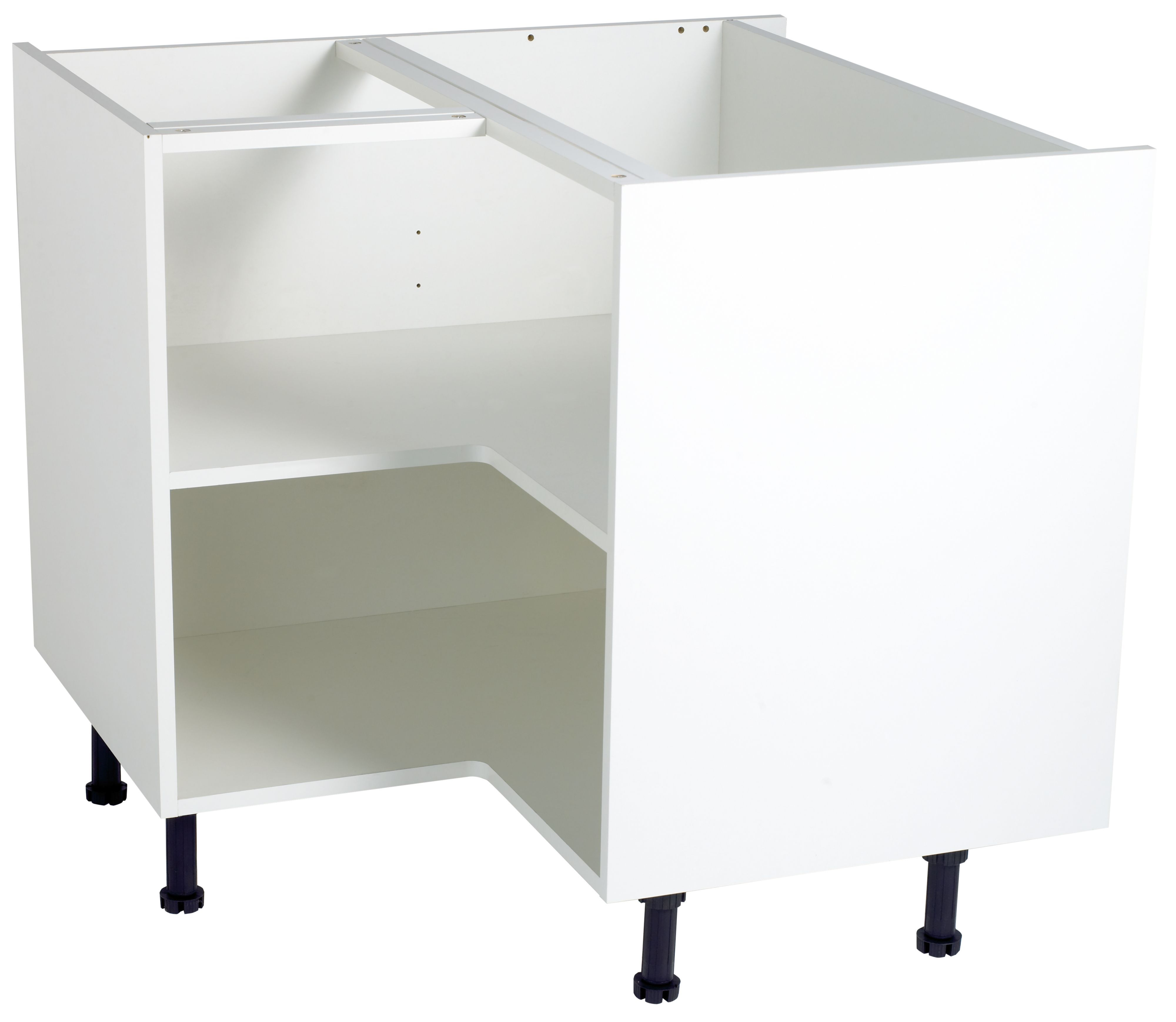 Kitchen Cabinet Carcasses: Cooke & Lewis White Standard Corner Base Cabinet Unit
