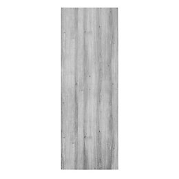 Exmoor Flush Wood effect Grey Door panel, (H)1980mm