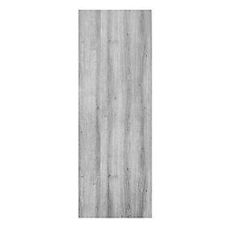 Exmoor Flush Wood effect Grey Door panel, (H)1980mm