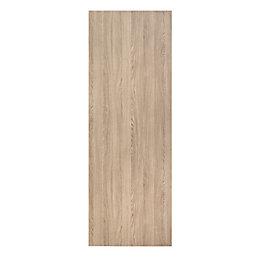 Flush Oak effect Panel Doorset, (H)1980mm (W)610mm