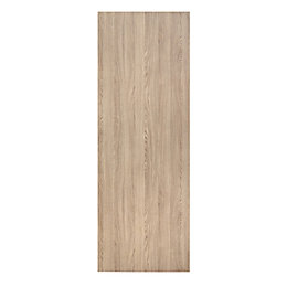 Exmoor Flush Oak effect Door panel, (H)1980mm (W)762mm