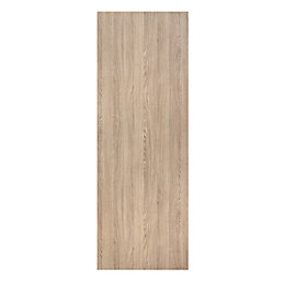 Exmoor Flush Oak effect Sliding door, (H)2040mm (W)830mm