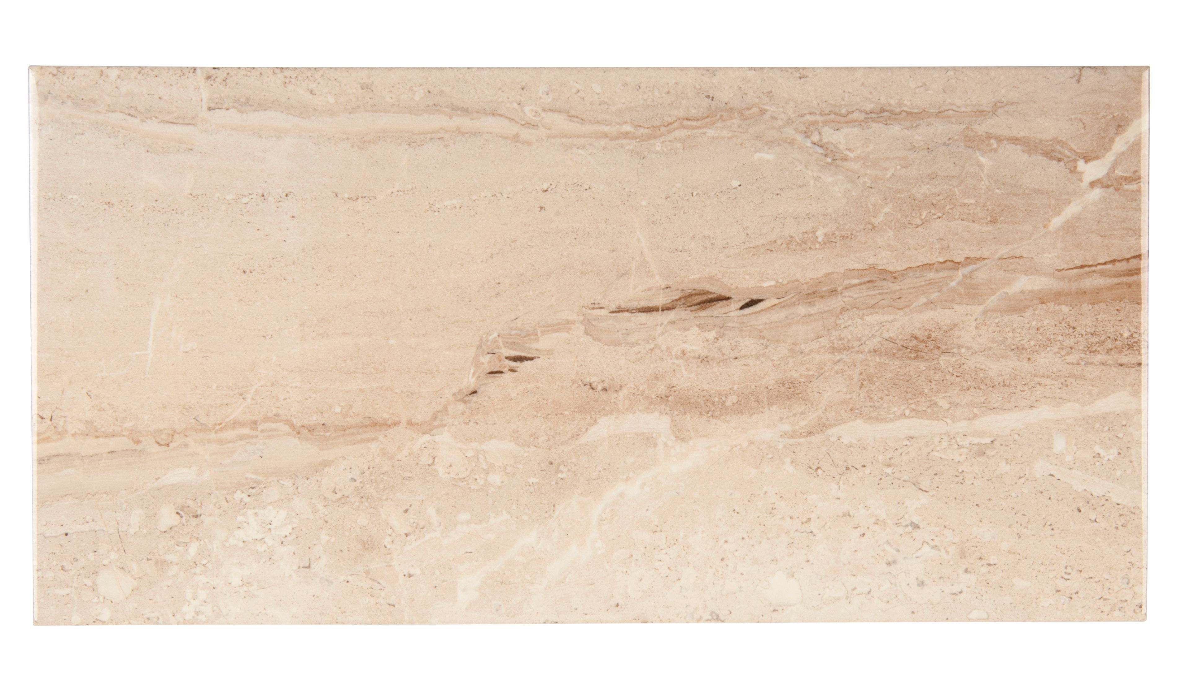 Bali Light Beige Stone Effect Ceramic Wall Tile Pack Of 8 L