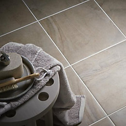 Granada Grey & beige Porcelain Floor tile, Pack