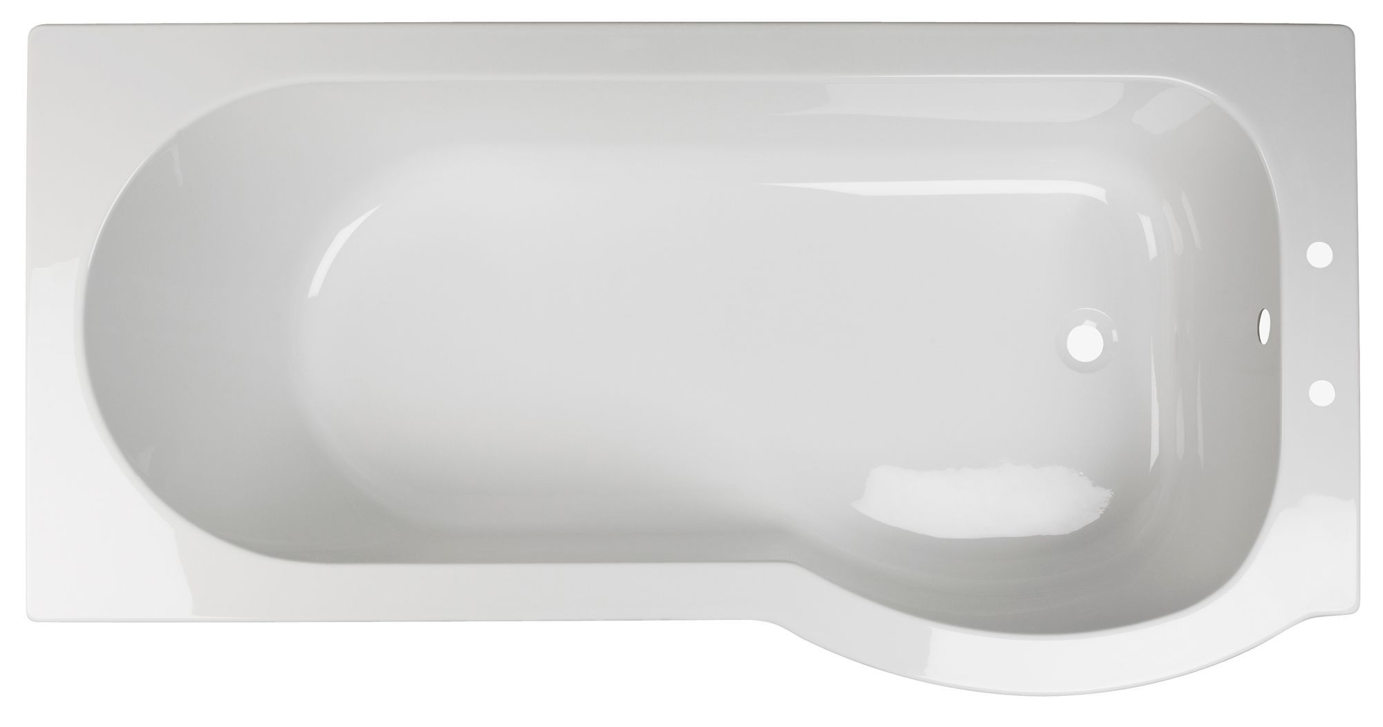 Cooke Amp Lewis Adelphi Rh Acrylic Curved Shower Bath L