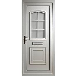 Georgian White PVCu Glazed External Front Door &