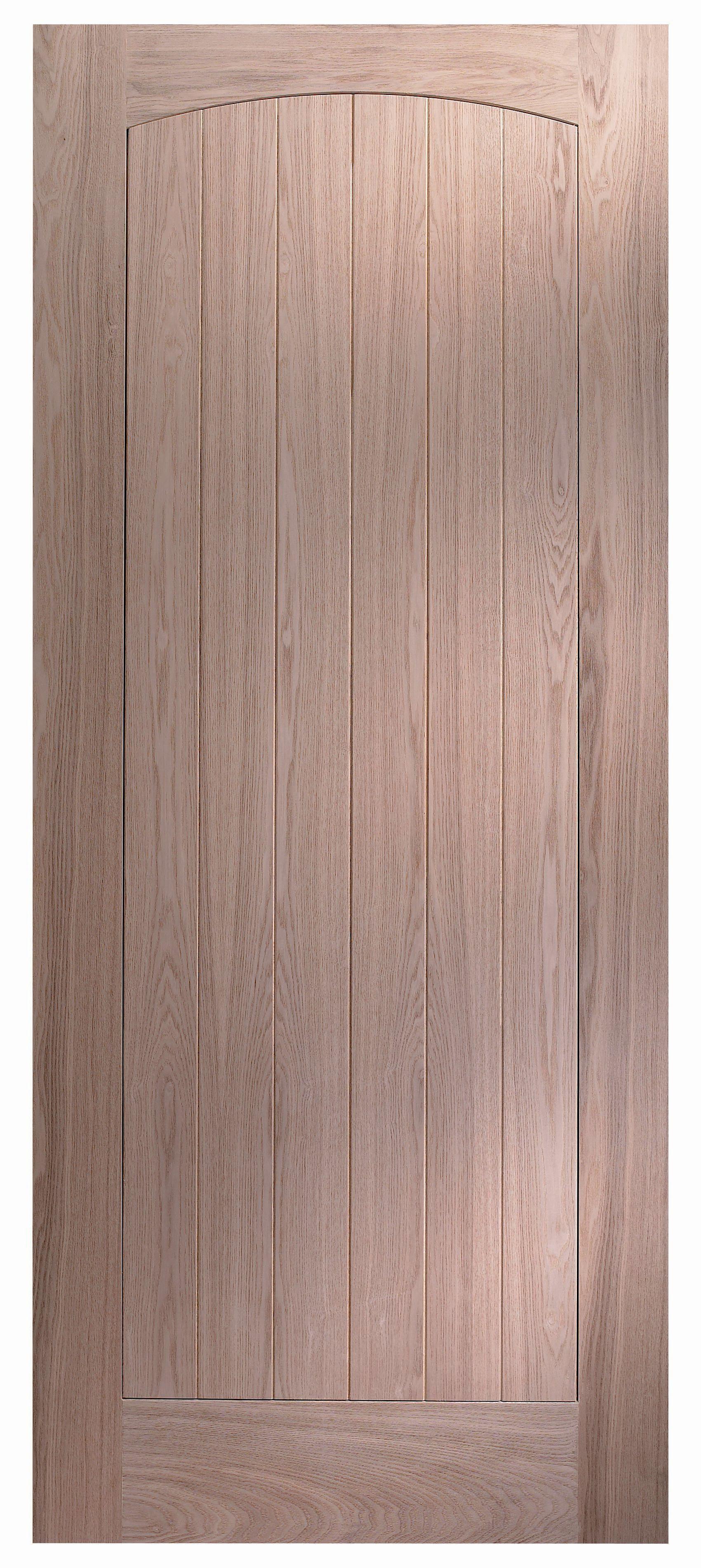 Cottage Cottage Oak Veneer External Front Door, (H)2032mm ...